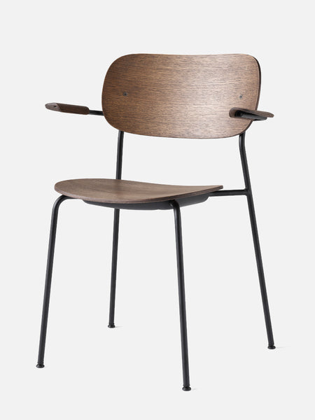Co Chair with Armrest Wood Seat in multiple colors by Menu