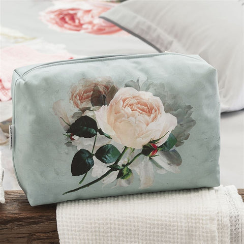 Peonia Grande Zinc Large Toiletry Bag design by Designers Guild