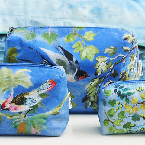 Giardino Segreto Cornflower Large Toiletry Bag design by Designers Guild
