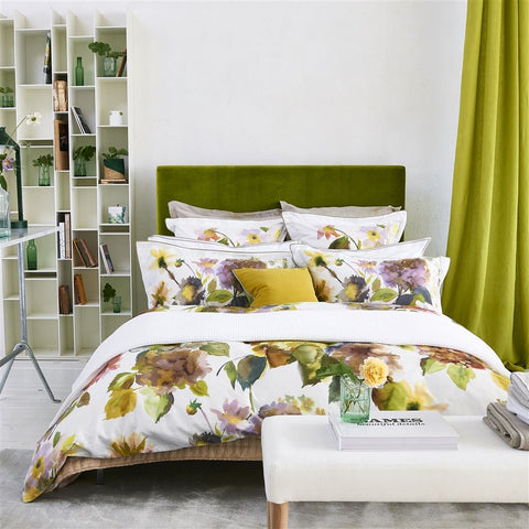 Palace Flower Birch Duvet Cover design by Designers Guild