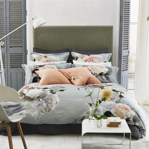 Peonia Grande Zinc Bed Linen design by Designers Guild