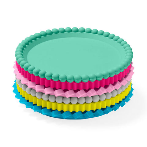 Geo Stacking Coasters in Pastels