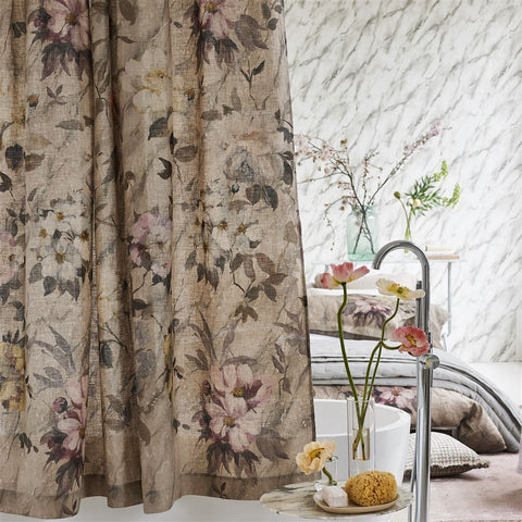 Carrara Fiore Cameo Shower Curtain  by Designers Guild
