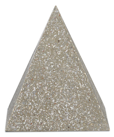 Abalone Large Concrete Pyramid design by Currey & Company