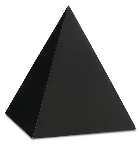 Black Large Concrete Pyramid design by Currey & Company