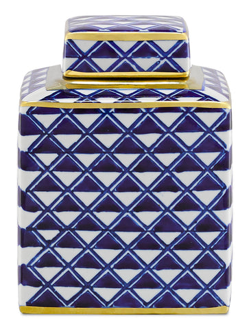 Juko Blue Jar by Currey & Company