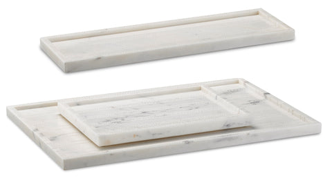 Everett White Tray Set in Various Colors Flatshot Image