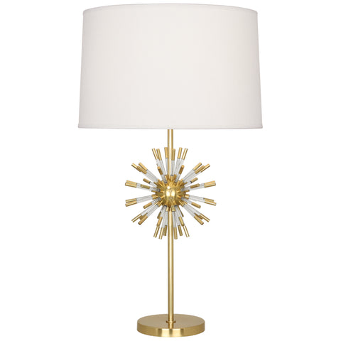 Andromeda Table Lamp in Modern Brass Finish w/ Clear Acrylic Accents design by Robert Abbey