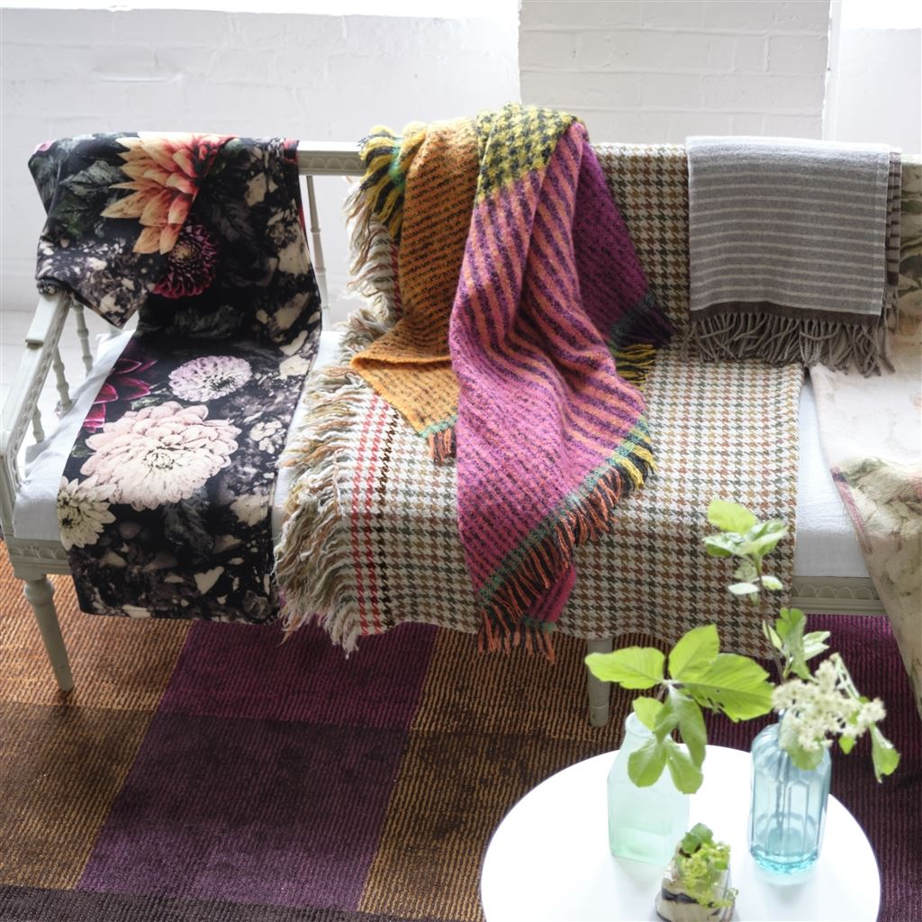 Fitzroy Saffron Throw by Designers Guild