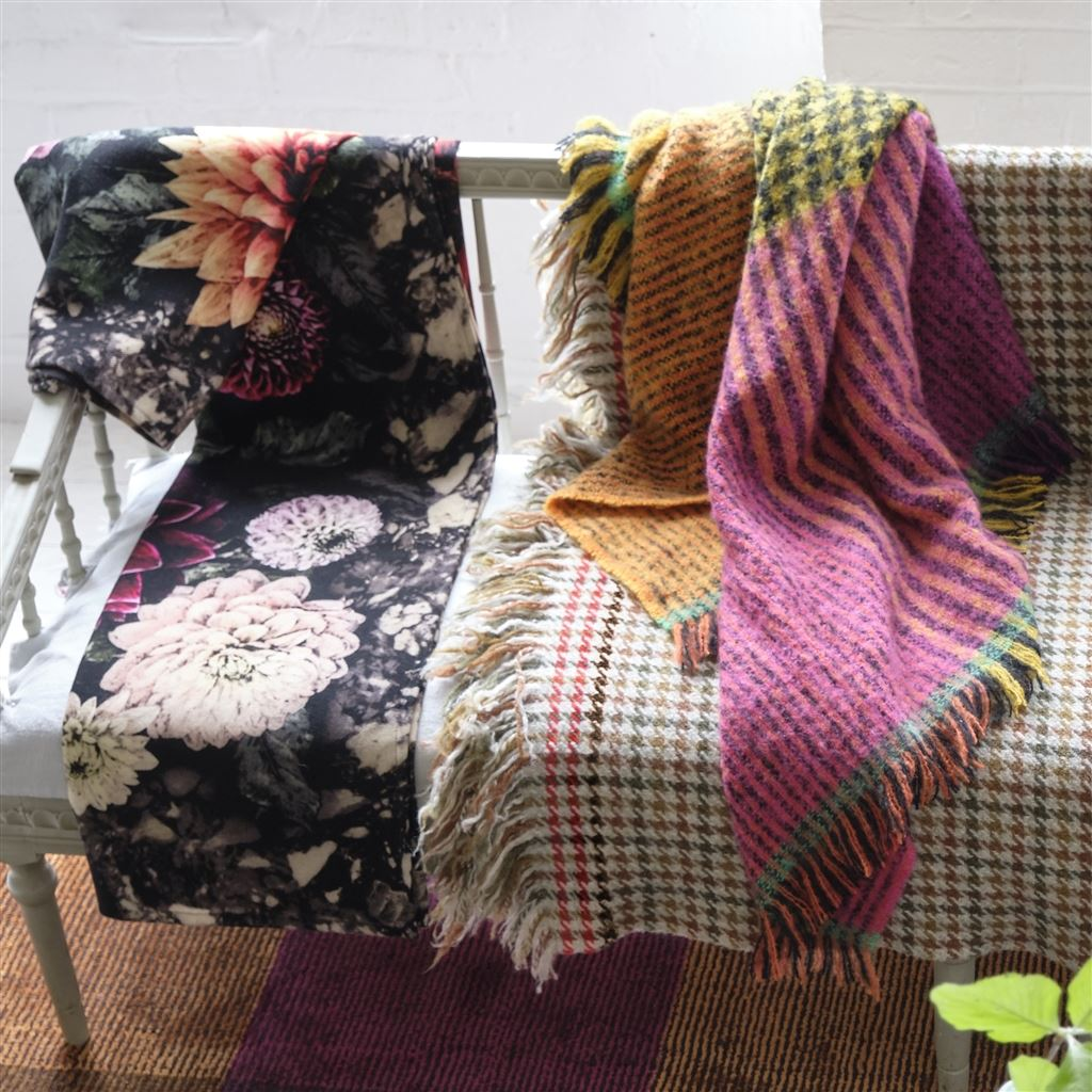 Katan Fuchsia Throw by Designers Guild