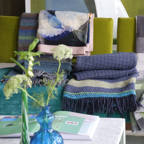 Bedford Azure Throw by Designers Guild