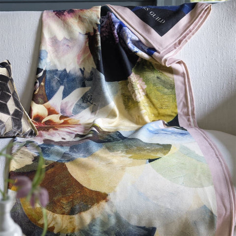 Kyoto Flower Peacock Throw by Designers Guild