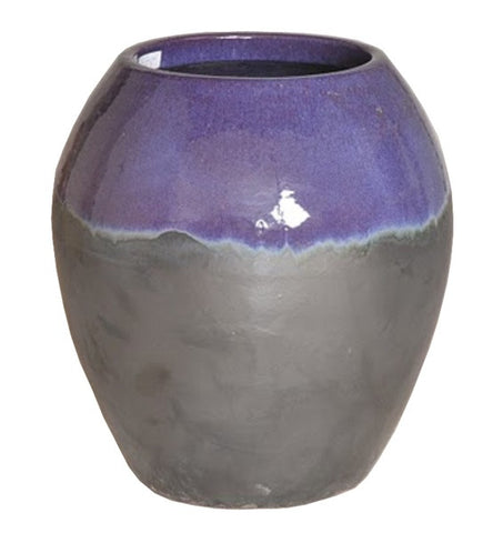 Ceramic Jar in Two-Tone Eggplant Glaze design by Emissary