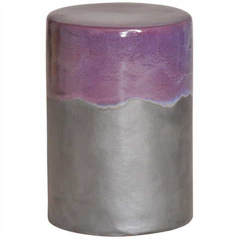 Garden Stool in Two-Tone Eggplant Glaze design by Emissary
