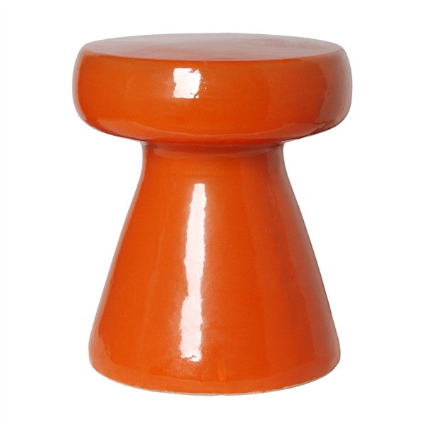Mushroom Stool in Burnt Orange design by Emissary