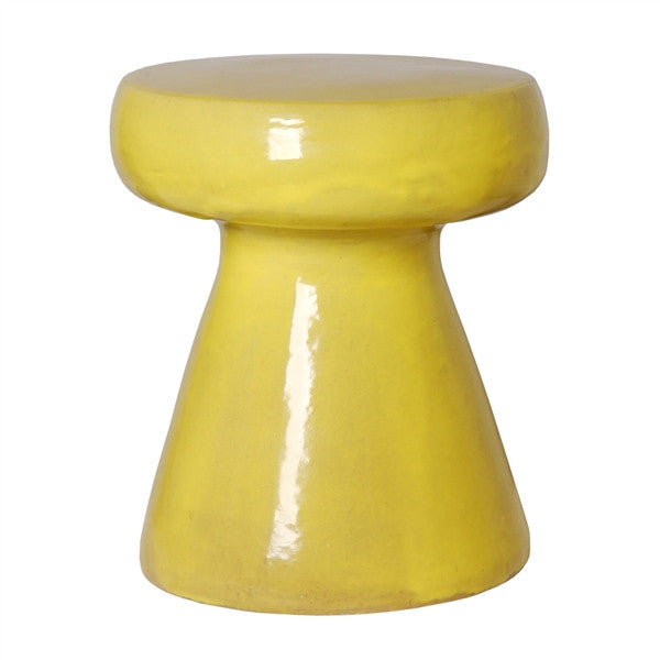 Mushroom Stool in Mustard Yellow design by Emissary