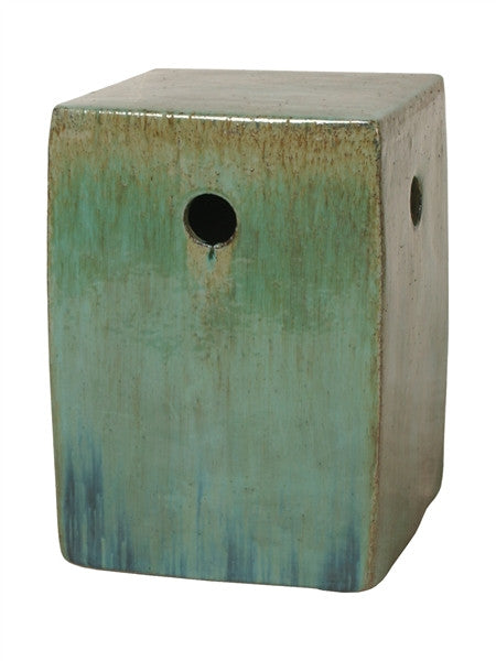 Square Garden Stool In Green Design By Emissary