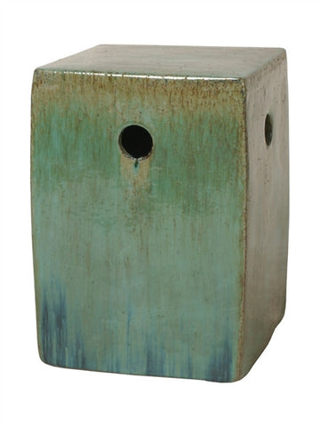 Square Garden Stool in Green