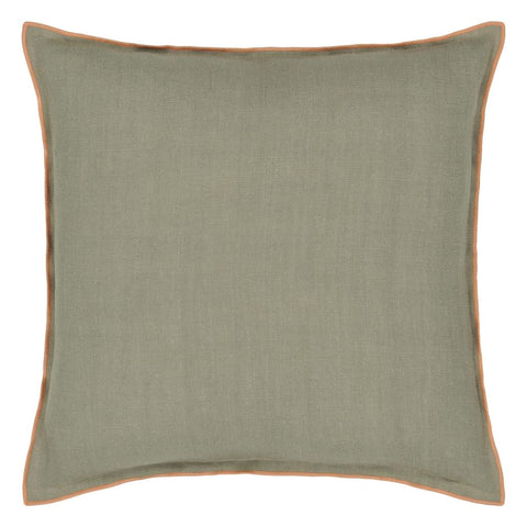Brera Lino Coral & Roebuck Decorative Pillow