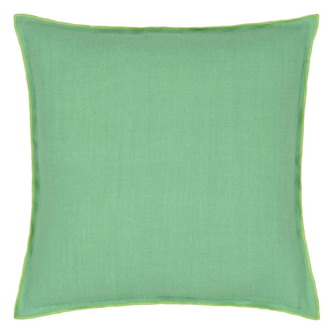 Brera Lino Verdigris & Apple Decorative Pillow