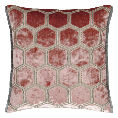 Manipur Coral Decorative Pillow