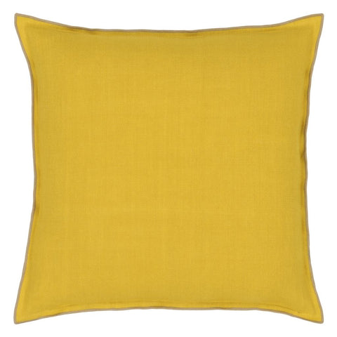 Brera Lino Ochre & Pebble Decorative Pillow