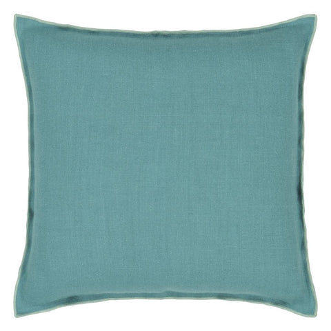 Brera Lino Ocean & Celadon Decorative Pillow