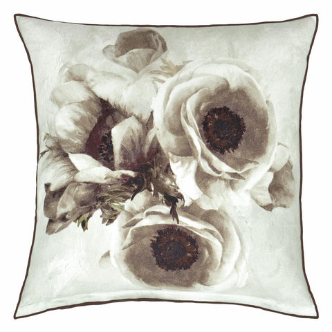 Sepia Flower Birch Decorative Pillow