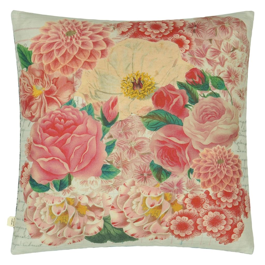 Floral Vase Azalea Decorative Pillow