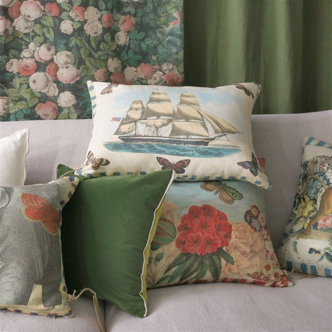 Garden Fantasy Fuchsia Decorative Pillow