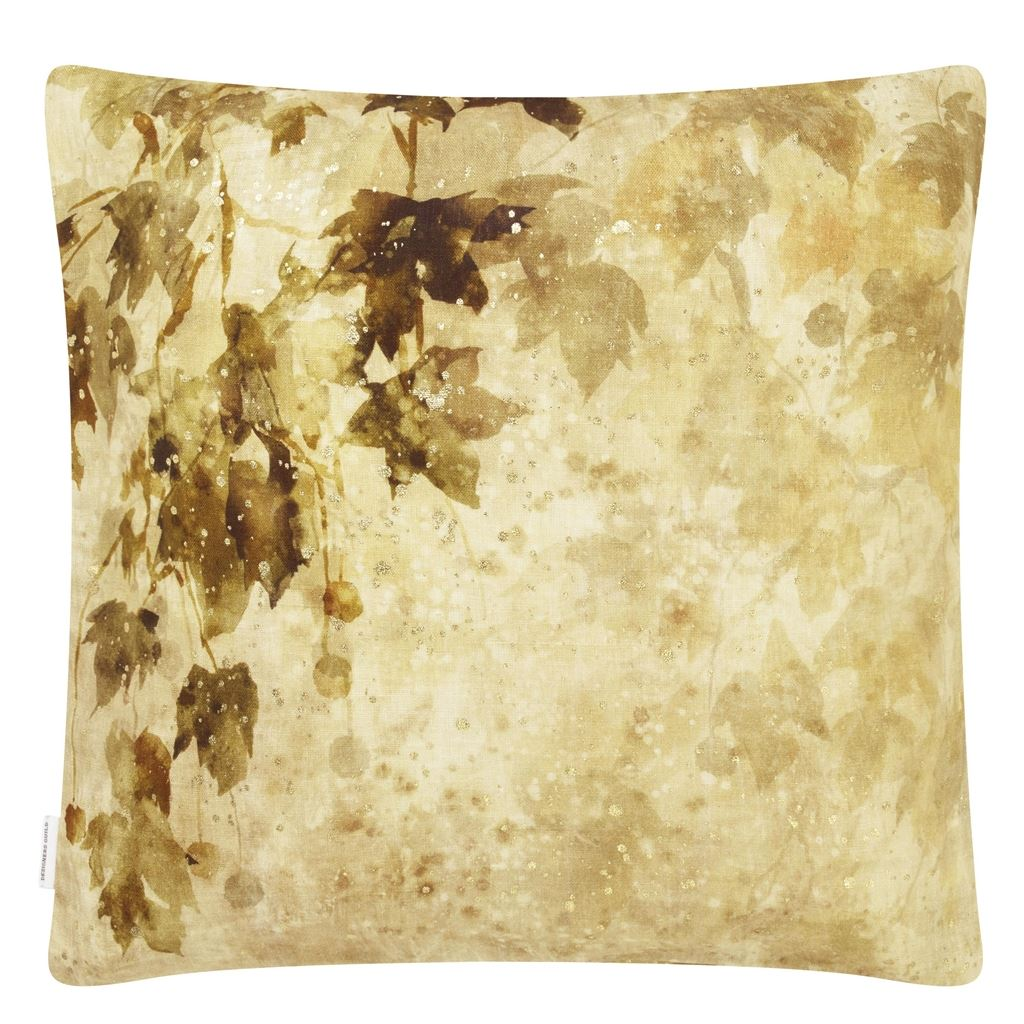 Jardin Chinois Hemp Decorative Pillow