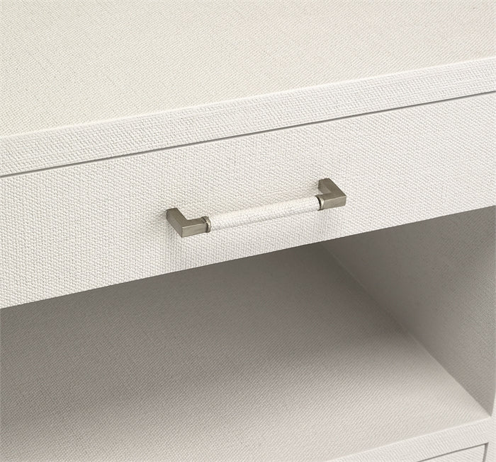 Taylor Bedside Chest in White design by Interlude Home