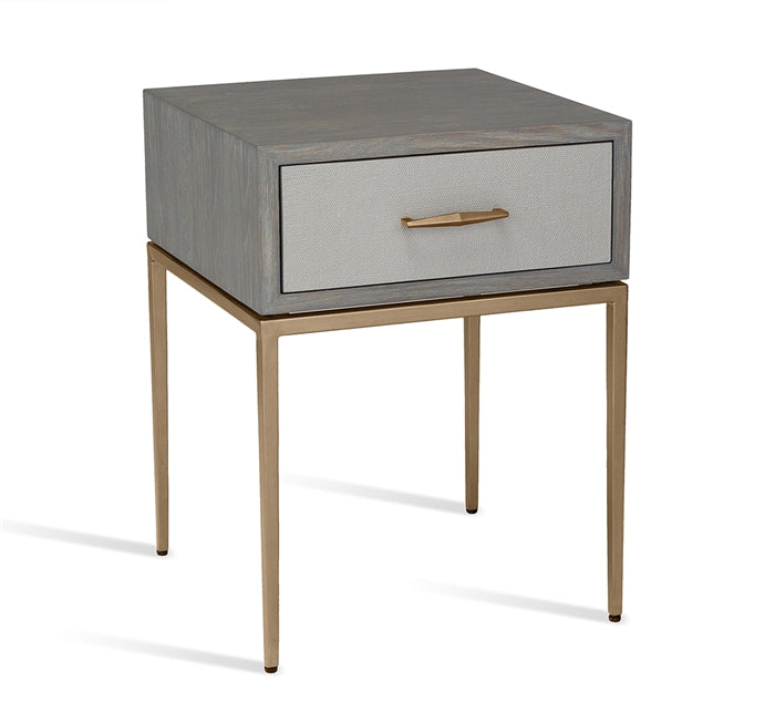 Corinna Bedside Table in Grey design by Interlude Home