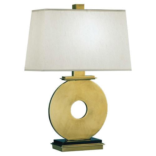 Tic Tac Toe Table Lamp in Antique Brass by Robert Abbey