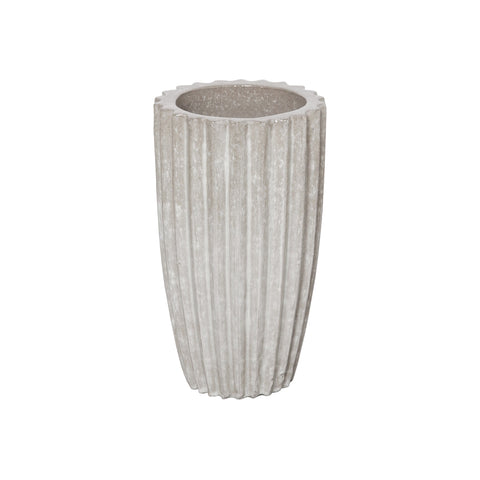 Tall Round Ridge Pot