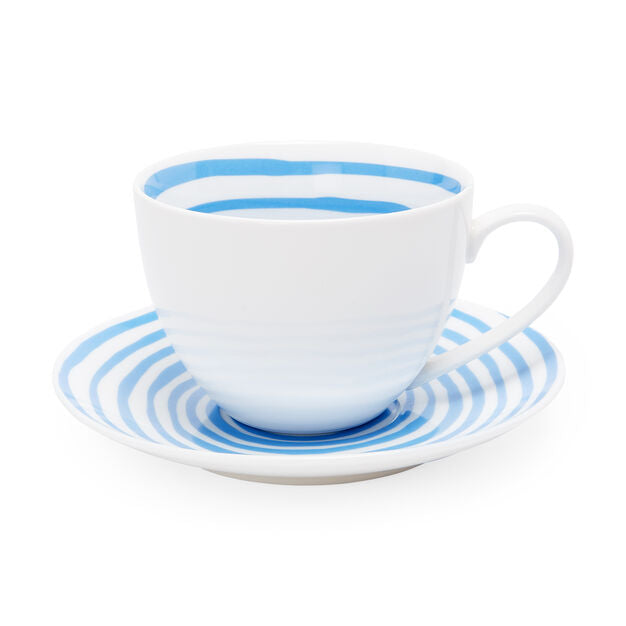 Louise Bourgeois Spirals Teacup & Saucer in Blue