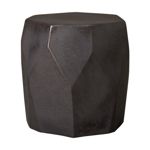Facet Garden Stool