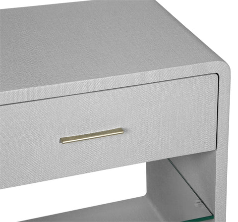Alma Bedside Chest in Light Grey design by Interlude Home