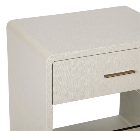Alma Bedside Chest in Sand design by Interlude Home