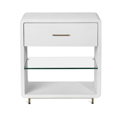 Alma Bedside Chest in White design by Interlude Home