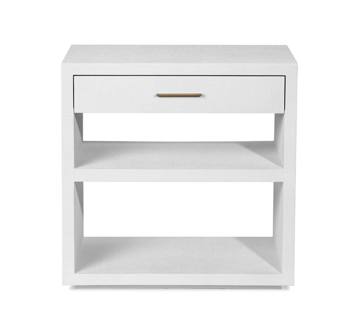 Livia Bedside Chest in White