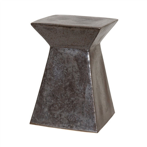 Upright Garden Stool in Gunmetal design by Emissary