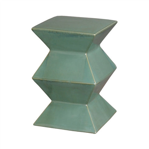 Zigzag Garden Stool in Green design by Emissary