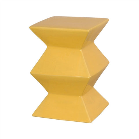 Zigzag Garden Stool in Sun Yellow design by Emissary
