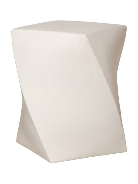 Twist Garden Stool in White design by Emissary