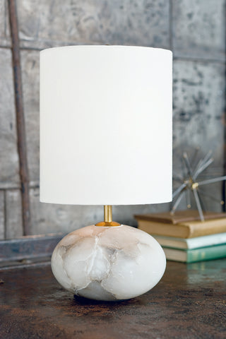 Alabaster Mini Orb Lamp design by Regina Andrew