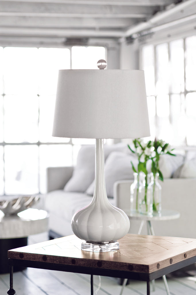 Milano Table Lamp in Snow design by Regina Andrew