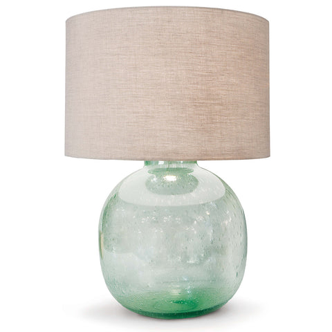 Seeded Recycled Glass Table Lamp design by Regina Andrew