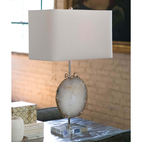 Exhibit Table Lamp in Nickel design by Regina Andrew