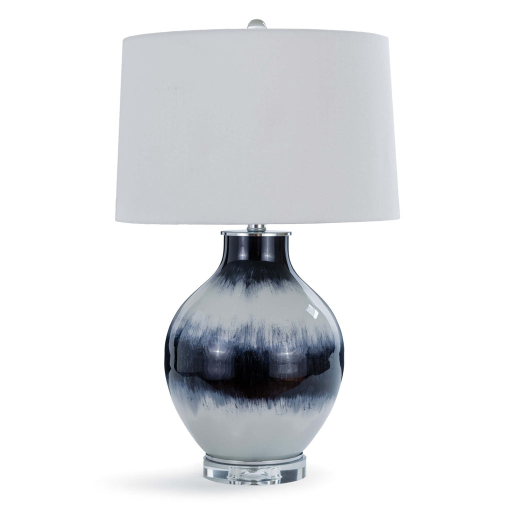 Indigo Glass Table Lamp design by Regina Andrew